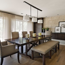 Contemporary Dining Room by Jeffrey King Interiors
