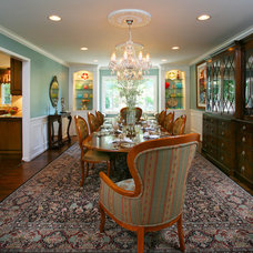 Traditional Dining Room by Colorworks Studio