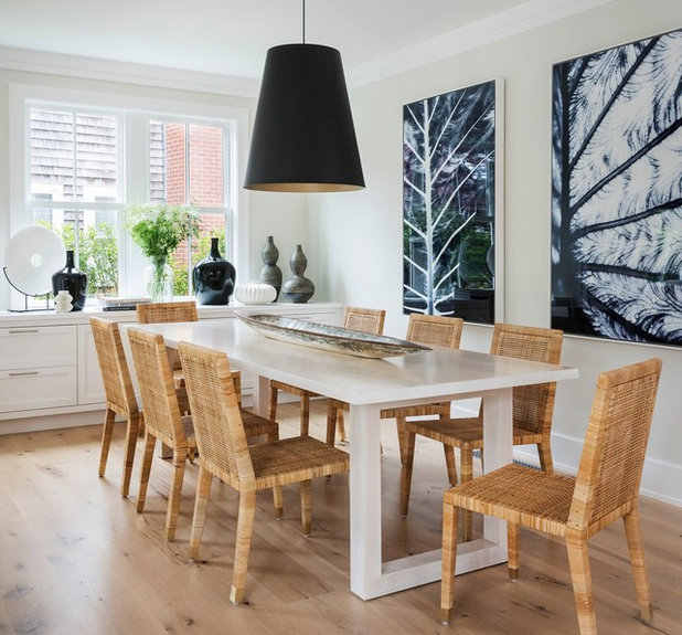 Beach Style Dining Room by Cynthia Hayes Interior Design