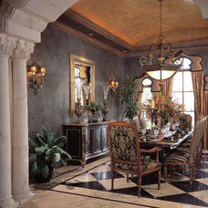 Mediterranean Dining Room by Jere Bradwell