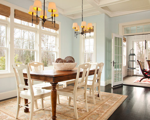 Inspiration For A Large Timeless Dark Wood Floor And Brown Floor  Kitchen/dining Room Combo