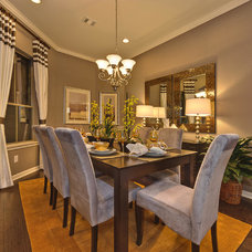 Transitional Dining Room by Danze & Davis Architects, Inc.