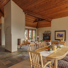 Traditional Dining Room by Travis Knoop Photography