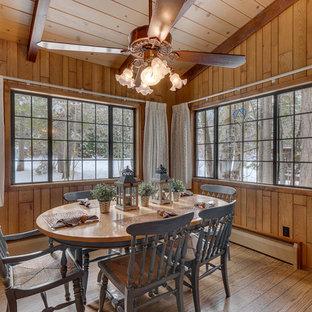 Dining Room   Rustic Medium Tone Wood Floor And Brown Floor Dining Room  Idea In Sacramento