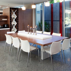 Contemporary Dining Room by Yael K Designs