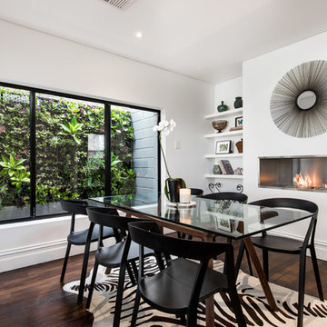 West Leederville Residence - Dining room with views to vertical garden