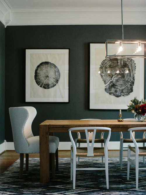 Dark Green Dining Room Design Ideas Remodels Photos