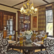 Traditional Dining Room by Laurie Gorelick Interiors