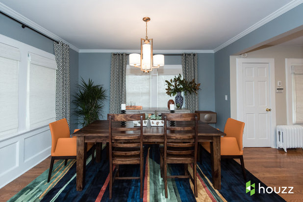 Transitional Dining Room by Jules Duffy Designs