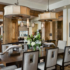 Rustic Dining Room by Locati Architects