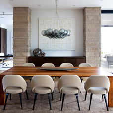 Contemporary Dining Room by Claudia Leccacorvi