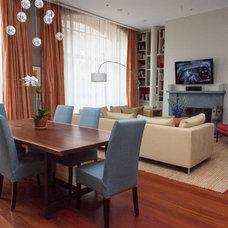 Contemporary Dining Room by Deborah French Designs