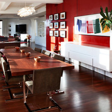 Modern Dining Room by moment design + productions, llc