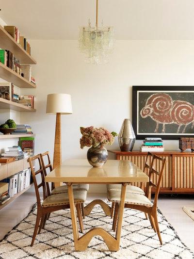 Midcentury Dining Room by Sara Bengur Interiors