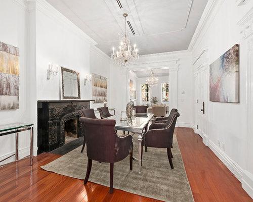Enclosed Dining Room   Traditional Medium Tone Wood Floor And Orange Floor  Enclosed Dining Room Idea