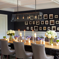 Transitional Dining Room by Jacob Snavely Photography