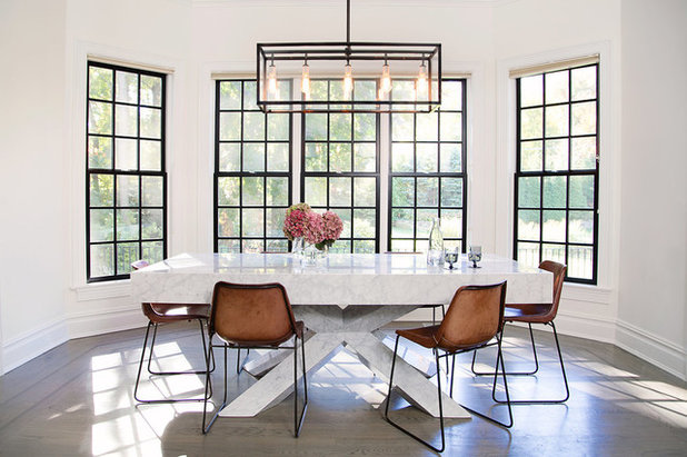 Transitional Dining Room by Roop Rang (Interiors)