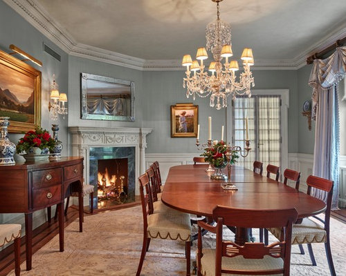 Best traditional dining room with a corner fireplace for Traditional dining room fireplace