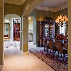 Mediterranean Dining Room by Pillar Custom Homes, Inc.