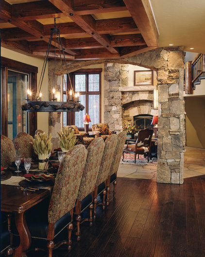 Traditional Dining Room by Apex Mountain Homes