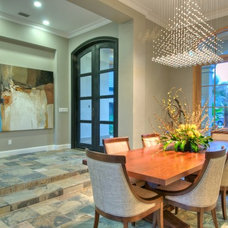 Contemporary Dining Room by Westwater Construction Inc.