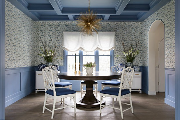 Transitional Dining Room by Paige Pierce Design