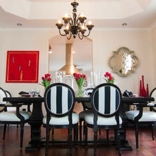 Eclectic Dining Room by Georgette Westerman Interiors
