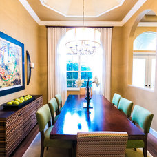 Contemporary Dining Room by WALL2WALLDESIGN INC.