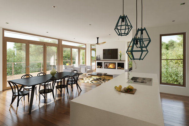 Contemporary Dining Room by Destination Living