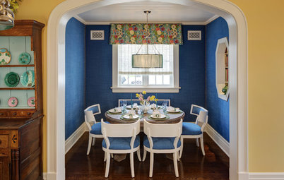Room of the Day: Dressing a Dining Alcove in Bright Blue