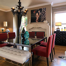 Transitional Dining Room by Jeneration Interiors