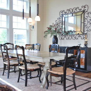 Dining Room   Traditional Medium Tone Wood Floor Dining Room Idea In  Indianapolis With Beige Walls