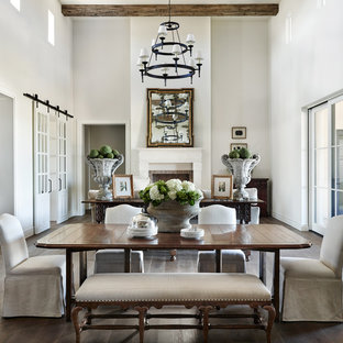 traditional dining room designs. Example Of A Classic Dark Wood Floor Great Room Design In Phoenix With  White Walls And Traditional Dining Designs O