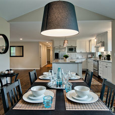 Contemporary Dining Room by CliqStudios Cabinets