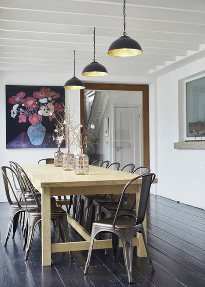 Transitional Dining Room by Dublin Design Studio