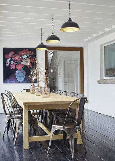 Transitional Dining Room by Dublin Design Studio
