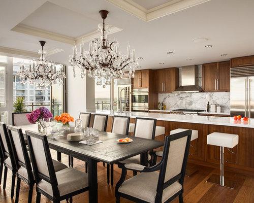 Chrome Refrigerator Dining Room Design Ideas Renovations