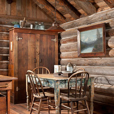 Rustic Dining Room by Montana Creative architecture + design