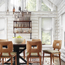 Rustic Dining Room by Jessica Jubelirer Design