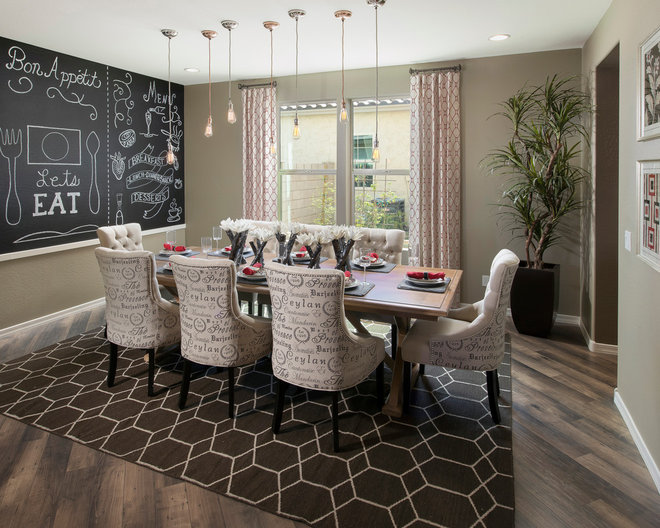 transitional dining room by Meritage Homes