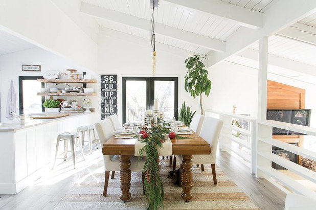 Farmhouse Dining Room by Design Shop Interiors