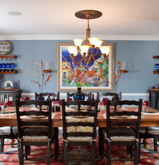eclectic dining room by Marrokal Design & Remodeling