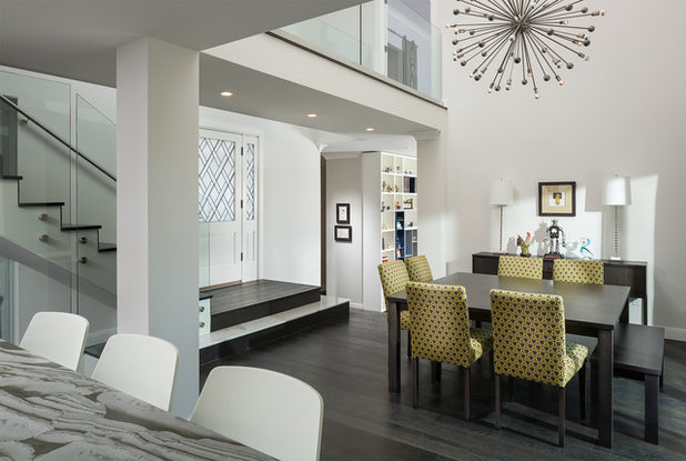 Contemporary Dining Room by Mega Builders
