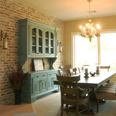 Traditional Dining Room by Brickmoon Design