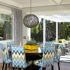 Transitional Dining Room by Brooke Wagner Design