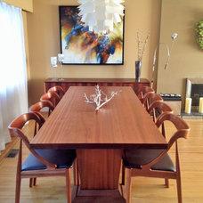 Midcentury Dining Room by Neufeld Furniture