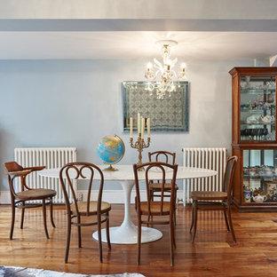 Idee per una grande sala da pranzo aperta verso il soggiorno vittoriana