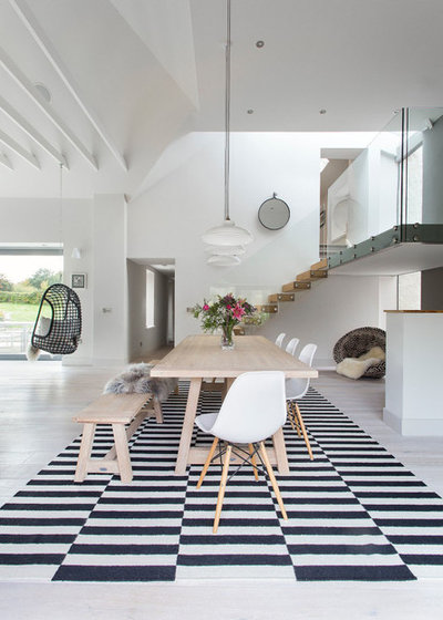Contemporary Dining Room by Hen & Crask Edinburgh