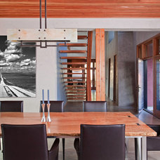 Industrial Dining Room by WA design