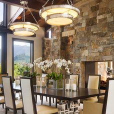 contemporary dining room by Charles Cunniffe Architects Aspen